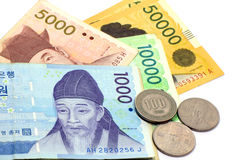 Korean Currency. Royalty Free Stock Image