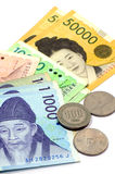 Korean Currency. Stock Photography
