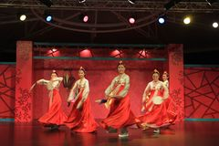 Korean dance  1. Korean dance, a beautiful dance.To attract the audience Stock Photography