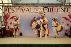 Korean dance Royalty Free Stock Photo