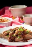 Korean dish of acorn type jello. Stock Photography