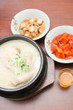 Korean dish - Samgyetang (Ginseng Chicken Soup) Stock Photos