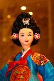 Korean Doll. Korean tradional doll culture dress Royalty Free Stock Images
