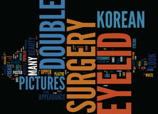 Korean Double Eyelid Surgery Pictures Text Background Word Cloud Concept royalty free illustration