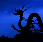 Korean Dragon At Dusk Royalty Free Stock Photos
