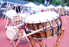 Korean drum at festival grounds 2 Royalty Free Stock Images