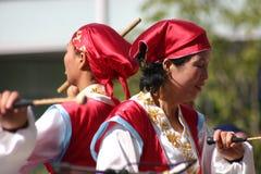 Korean Drum Festival. South Korean women perform at the Korean Drum Festival in Seoul Stock Photo
