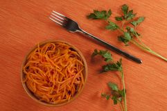 Korean Eager Carrot Salad Royalty Free Stock Images