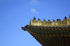 "Korean eave. With Chinese  myth ""Journey to the West"" characters Royalty Free Stock Photography"