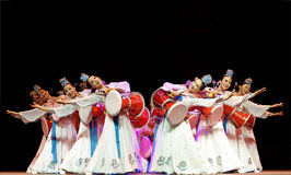 Korean ethnic dance Stock Images