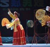 Korean ethnic dance Stock Images