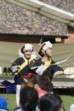 Korean ethnic dance performance Stock Photos