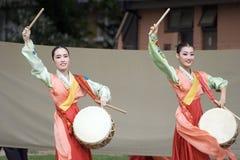 Korean ethnic dance performance Stock Photography