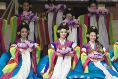 Korean ethnic dance performance Royalty Free Stock Image