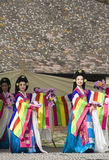 Korean ethnic dance performance Royalty Free Stock Photos