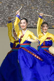 Korean ethnic dance performance Royalty Free Stock Photo