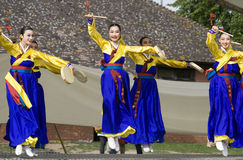 Korean ethnic dance performance Stock Images