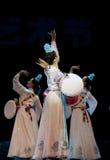 Korean ethnic dancers Royalty Free Stock Image