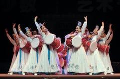 Korean ethnic dancers Stock Image