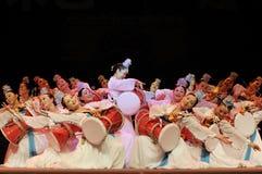 Korean ethnic dancers Royalty Free Stock Photo