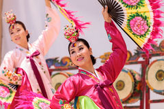 Free Korean Fan Dance Performed At The San Diego Zoo Safari Park. Stock Image - 95523381