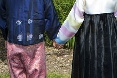 Korean Festive Garb Royalty Free Stock Photography