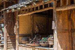 Korean film-set vegetable shop front for historic movies Royalty Free Stock Photography