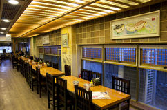 Korean fish restaurant Stock Photography