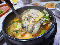 Korean fish soup. South Korean fish soup, Busan city Stock Photos