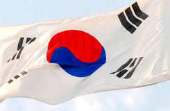 The korean flag Stock Photos