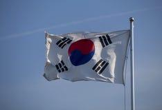 Korean flag. On blue sky royalty free stock image