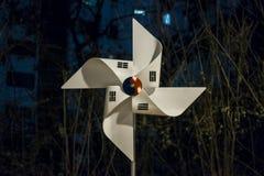 The Korean flag shaped like a pinwheel.  stock photo
