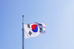Korean Flag waving on wind. Korean Flag waving on the wind royalty free stock photography