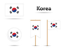 Korean flags Royalty Free Stock Photography