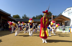 Korean folk dance Stock Photography