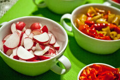 Korean food bowls stock photos