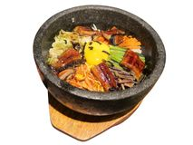 Korean food isolated on the white Stock Images