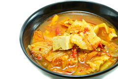 Korean food, kimchi stew Royalty Free Stock Images