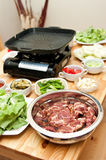 Korean food preparation Royalty Free Stock Photo