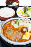 Korean food set. Beef curry ,Korean food set Stock Photography