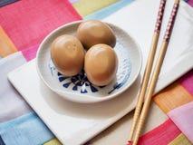 Korean food Soy Sauce Braised egg, Jang-jorim. Taken in studio Korean food Soy Sauce Braised egg, Jang-jorim stock images
