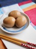 Korean food Soy Sauce Braised egg, Jang-jorim. Taken in studio Korean food Soy Sauce Braised egg, Jang-jorim stock photo