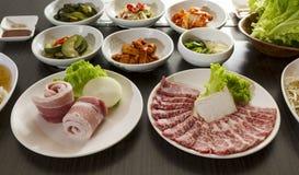 Korean Food. A table full of Korean Food Royalty Free Stock Images