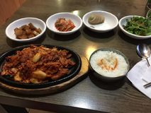 Korean food in a table Stock Photos