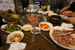 Korean Food. Traditional Korean Food is BBQ Grill Stock Image