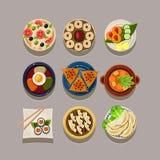 Korean food Vector Illustration Stock Photos