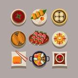 Korean food Vector Illustration Royalty Free Stock Photography