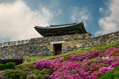 Korean fortress Royalty Free Stock Photos