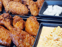 Korean fried chicken. Stock Image