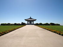 Korean Friendship Bell. In Los Angeles City Park Royalty Free Stock Photography